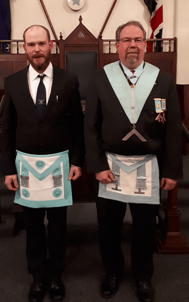 New Master Mason at Hore Ruthven Lodge No.155